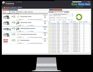 Monitorbild zu FileScheduler Workflows, PDFs automatisiert trennen, zusammenfassen, layouten, drucken