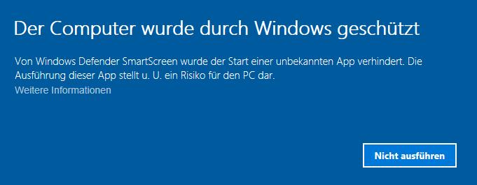 Abbildung einer Windows Sciherheitswarnung